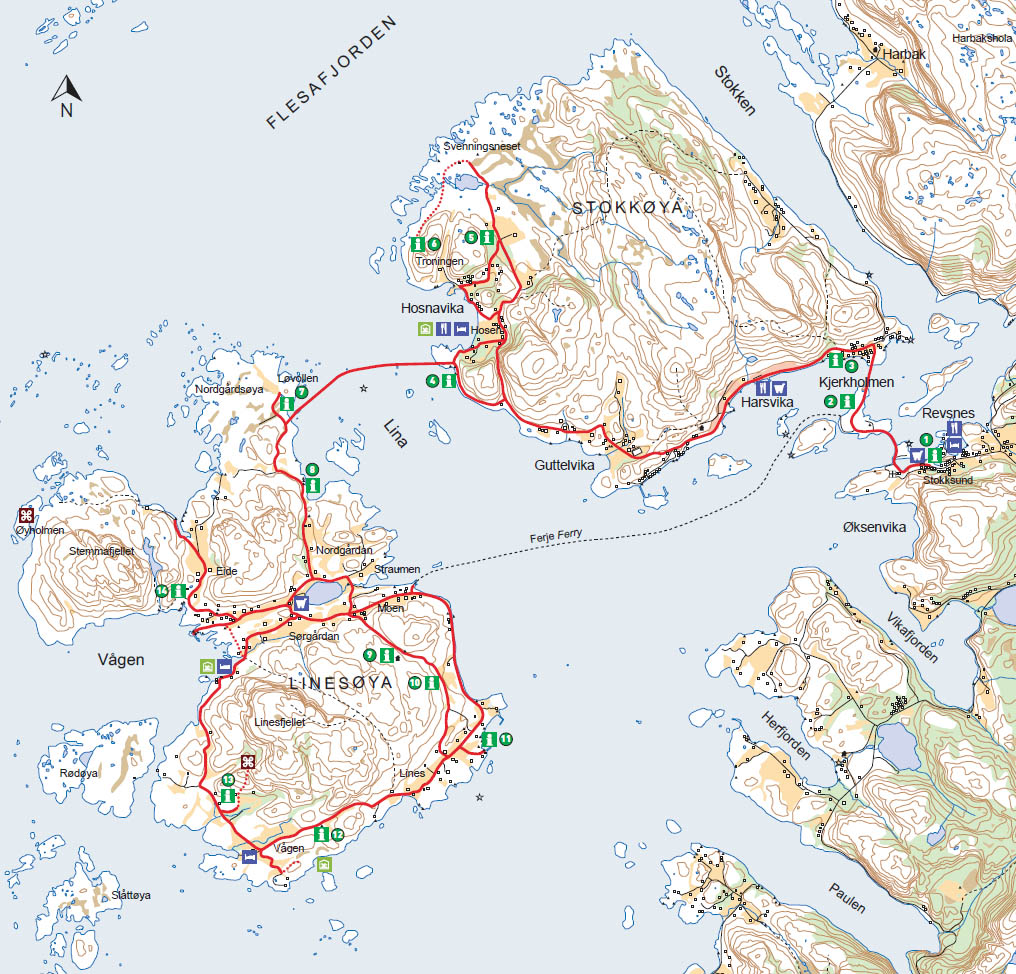 kart over stokkøya Vågan Feriegård   Sykkelturer | Vågan Feriegård kart over stokkøya